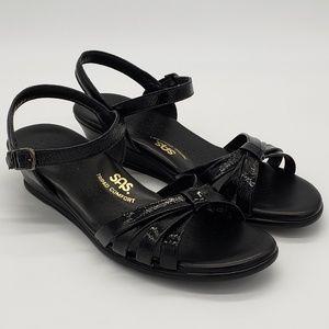 SAS Strippy Quarter Strap Wedge Sandals Sz 8 Women